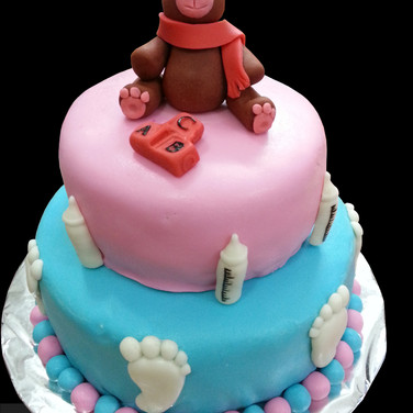 Teddy Bear Theme Fondant Cake