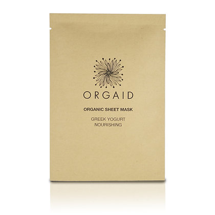 Orgaid Greek Yoghurt & Nourishing Organic Sheet Mask (x1)
