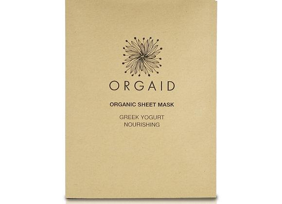 Orgaid Greek Yoghurt & Nourishing Organic Sheet Mask (x4)