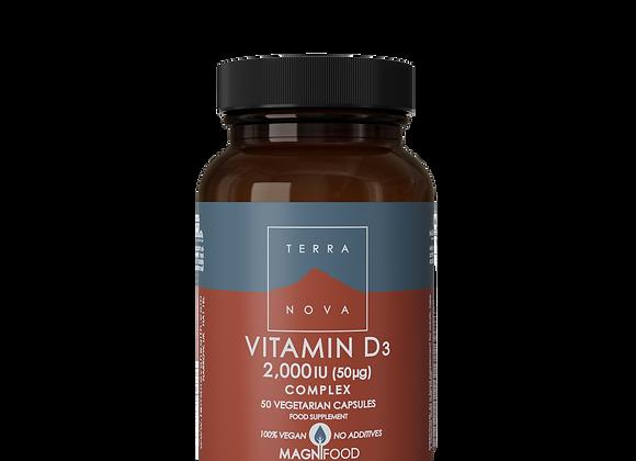 Vitamin D3 2000iu & Vitamin K2 100ug Complex 50s