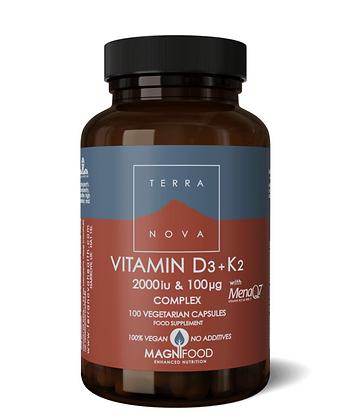 Terranova Vitamin D3 2000iu & Vitamin K2 100ug Complex 100s