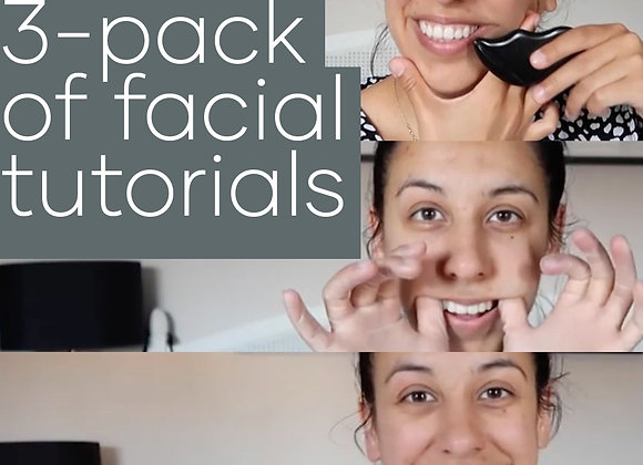 3 x facial tutorials