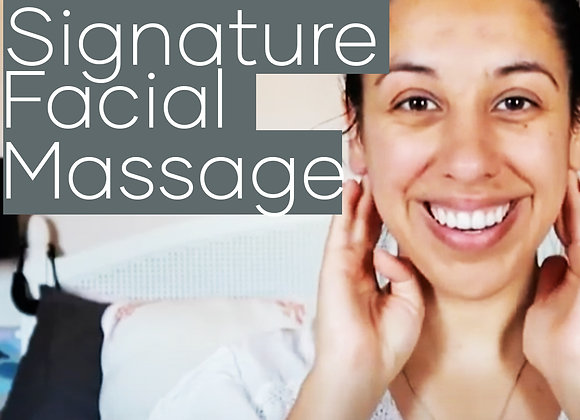re:lax Signature Facial Massage Tutorial