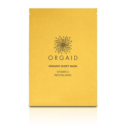 Orgaid Vitamin C & Revitalising Organic Sheet Mask (x4)