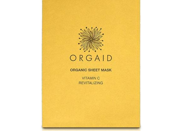 Orgaid Vitamin C & Revitalising Organic Sheet Mask (x1)