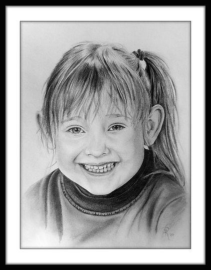 Portraitzeichnung Kind Bleistift