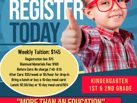 Now Enrolling - Kindergarten 2021-2022