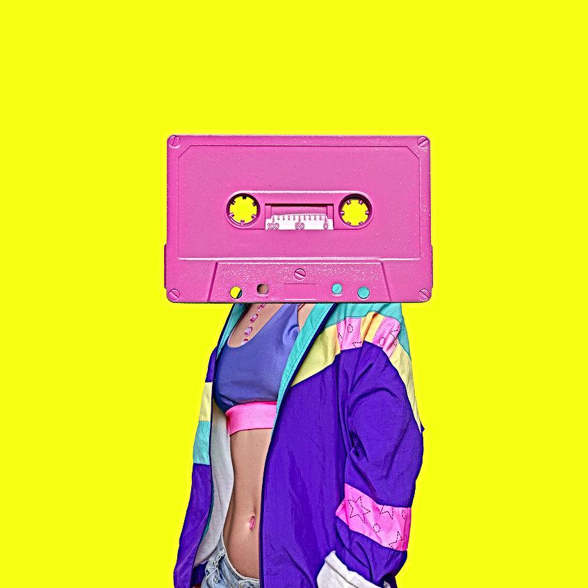 Fashion Retro Cassette Minimal art colla