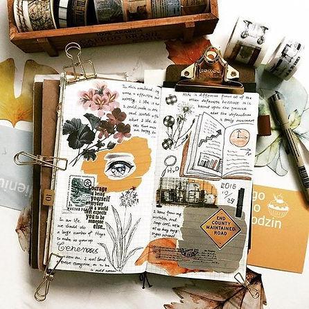 carnet-ancien-voyage-note-bullet-journal