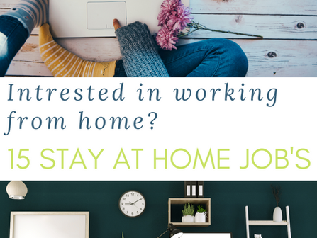 15 Stay at Home Jobs to Help you Keep a Flexible Schedule.