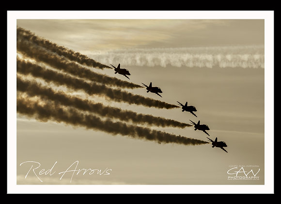 Red Arrows - Sunset