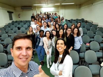 """Palestra """"Parâmetros Metodológicos que influenciam na análise dos dados e desenho do estudo"""" na Universidade Federal de Santa Catarina (UFSC)  em Florianópolis-SC, 2019."""