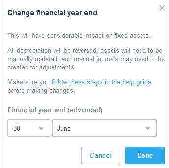 Set up your organisation's financial details