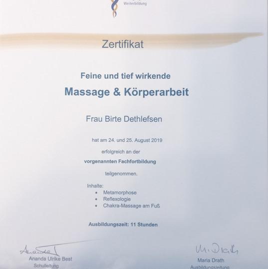 Massage und Körperarbeit, Birte Detlefse