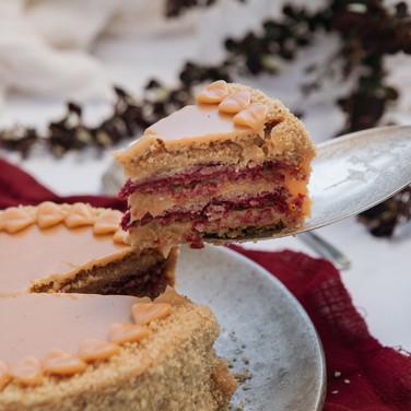 Torta Crocante Frambuesa