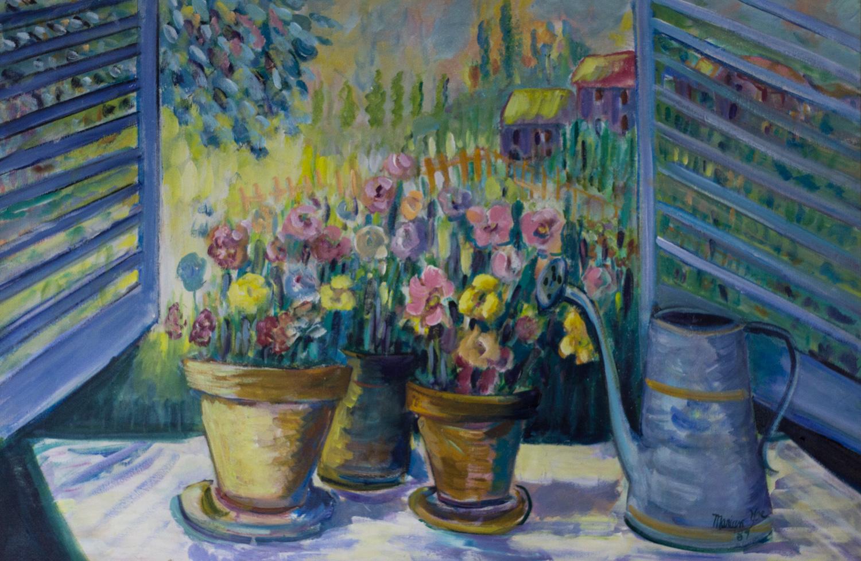 Spring, Marian N. Yoe, 1989, Oil, Donation