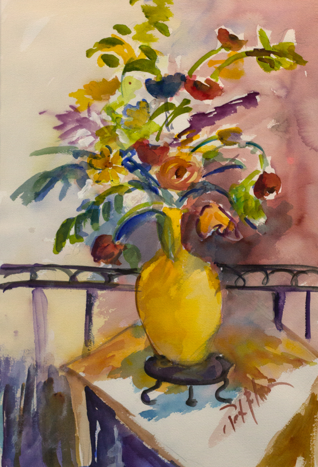 Still Life 1, Pat Palmer, Watercolor, Donated by the Artist