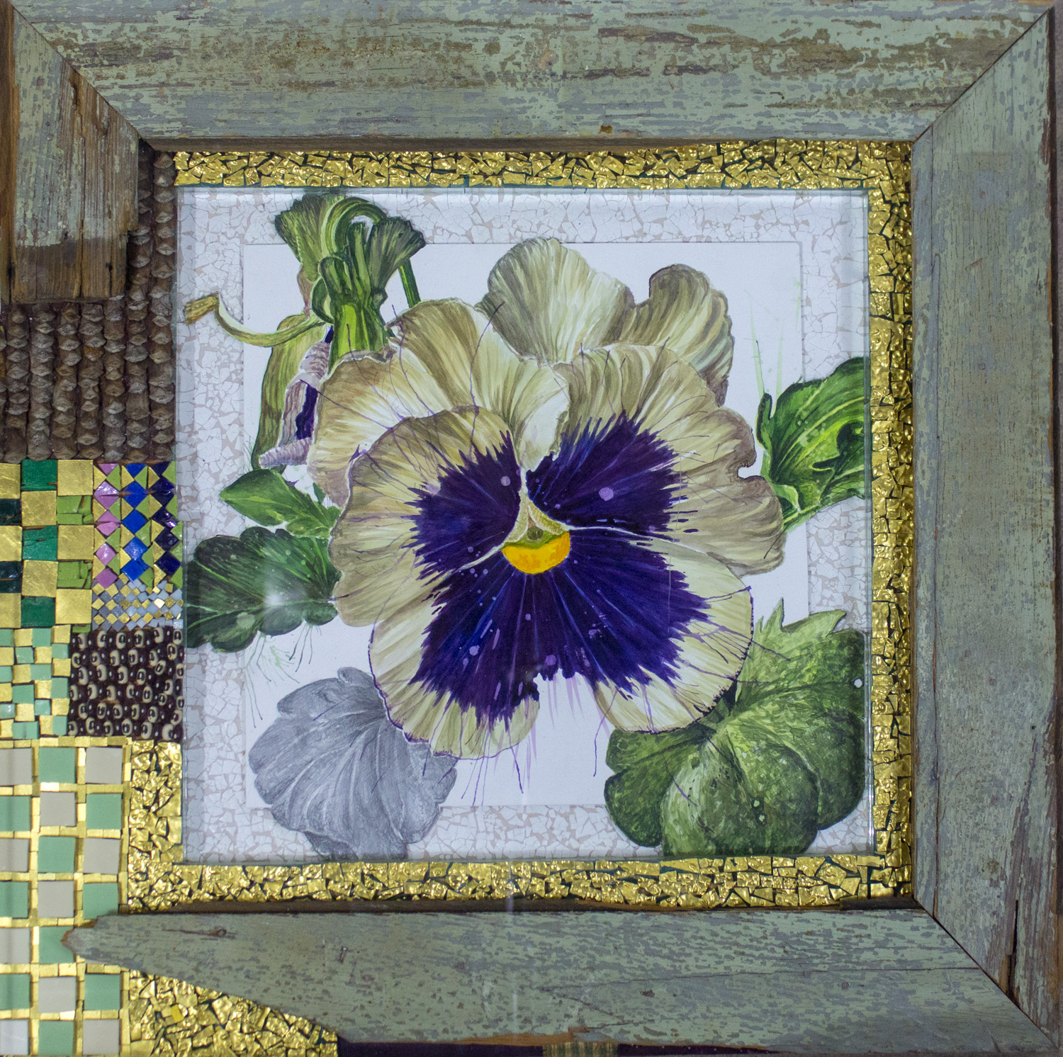Talladega Pansy by Nall, Mixed Media