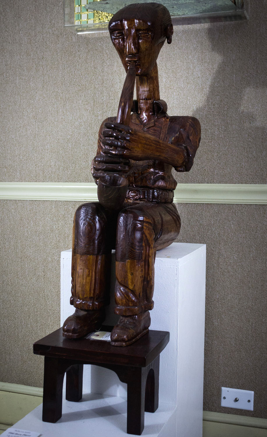 The Musician by Shelby Horton, Wood Carving