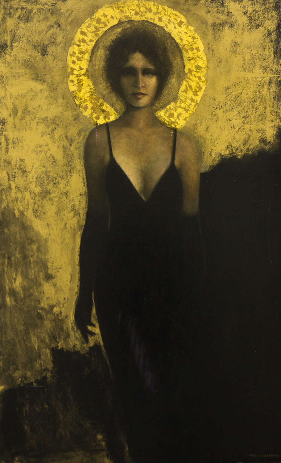 Deathless She Shall Reign by Sergei (Larry) Shillabeer, 1991, Oil on Canvas, Cheaha Exhibition Purch