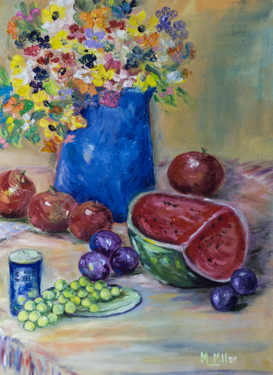 Summer Fruit, by Marianne Miller, Oil on Canvas