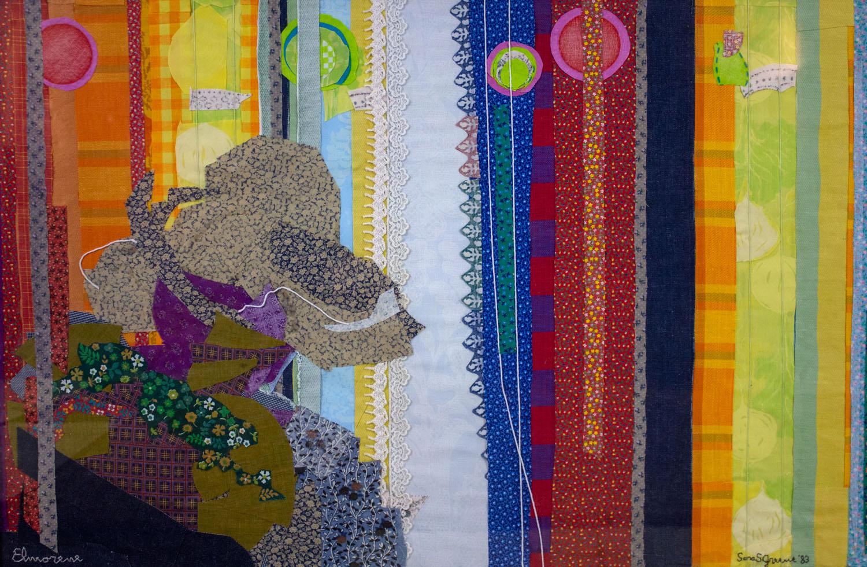 Elmorene by Sarah S. Greene, Textile Collage, 1983, Donation