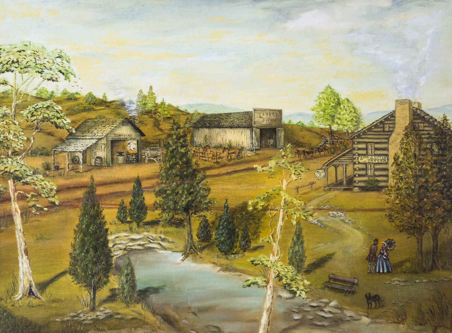 Big Spring by Frances Sweat Upchurch, 1979, Oil, 11 Paintings collection from Foundation