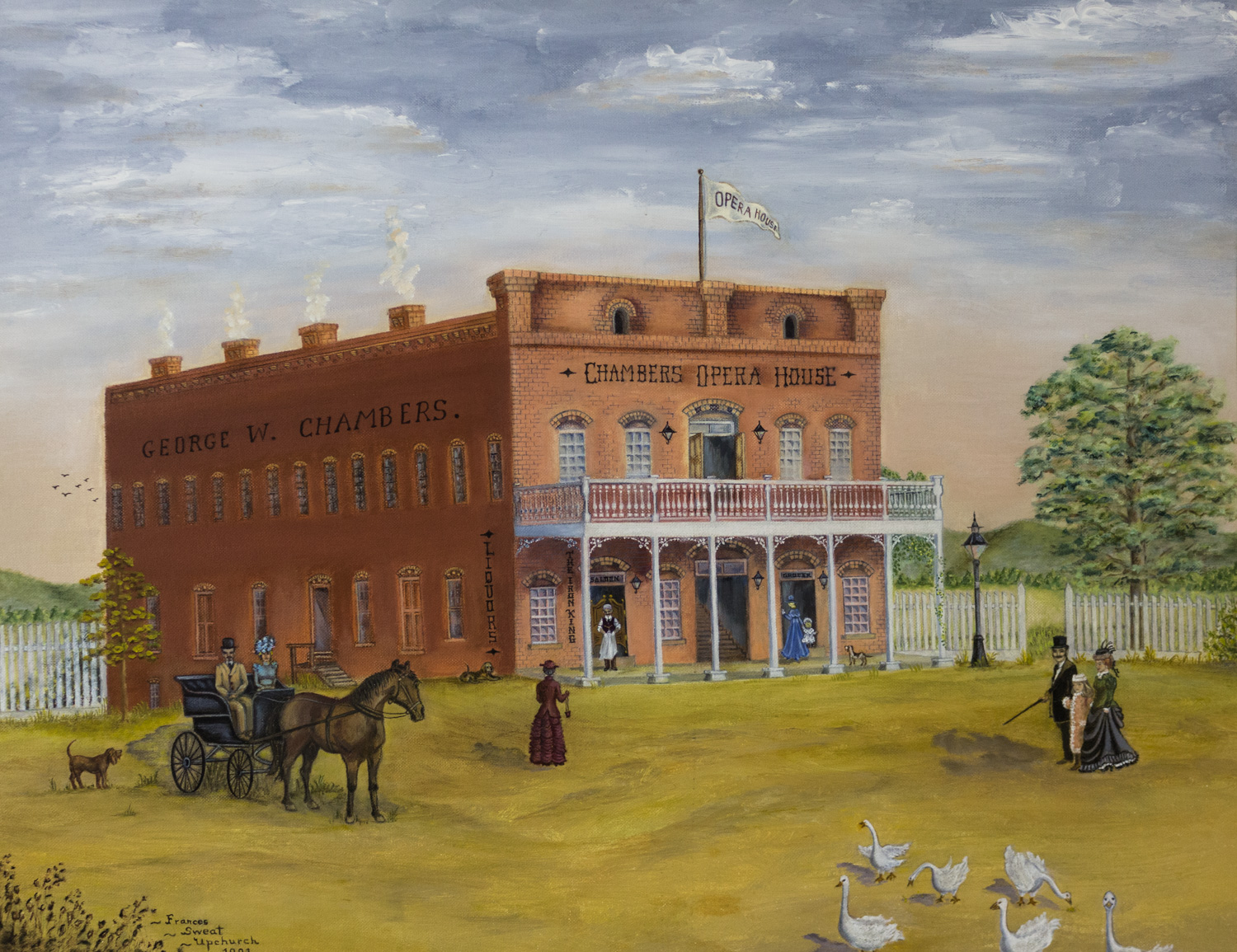 The Chambers Opera House by Frances Sweat Upchurch, 1991, 11 Paintings collection from Foundation