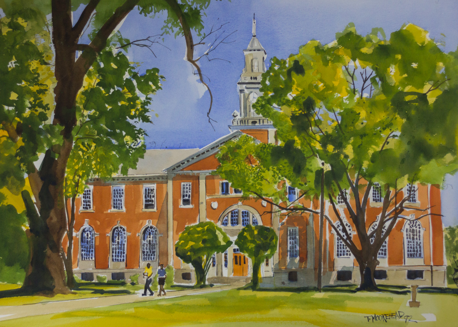 The Savery Library on the Talladega College Campus, 1992, Watercolor on Paper, Purchased from the Ar