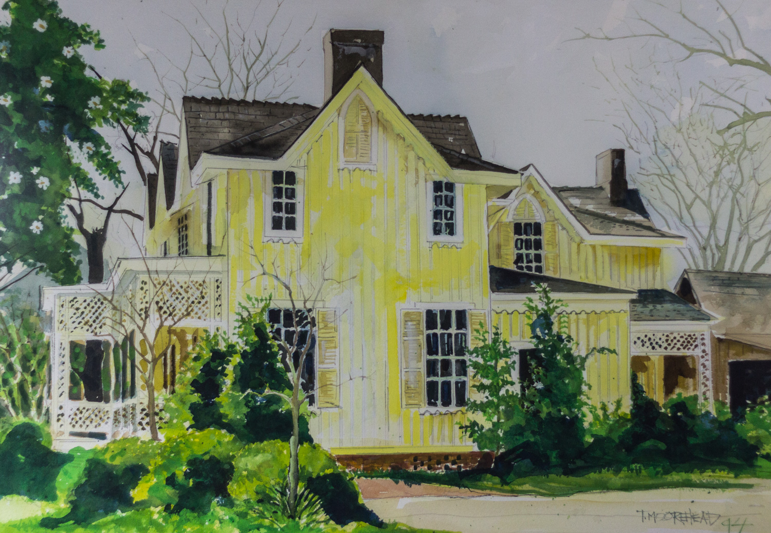 Boxwood, by Tommy Moorehead, 1994, Watercolor on Paper, Purchased from the Artist