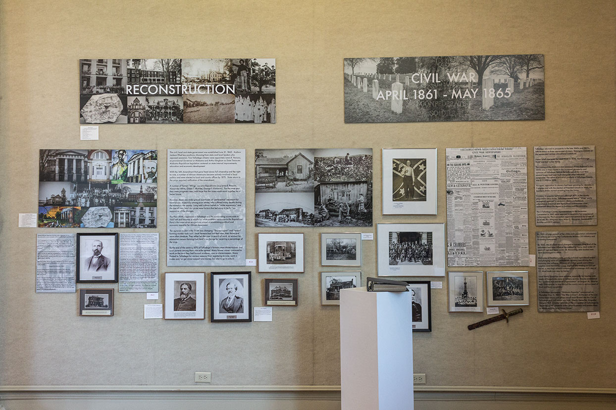A Sense of Place: Talladega's Past Exhibit Installation
