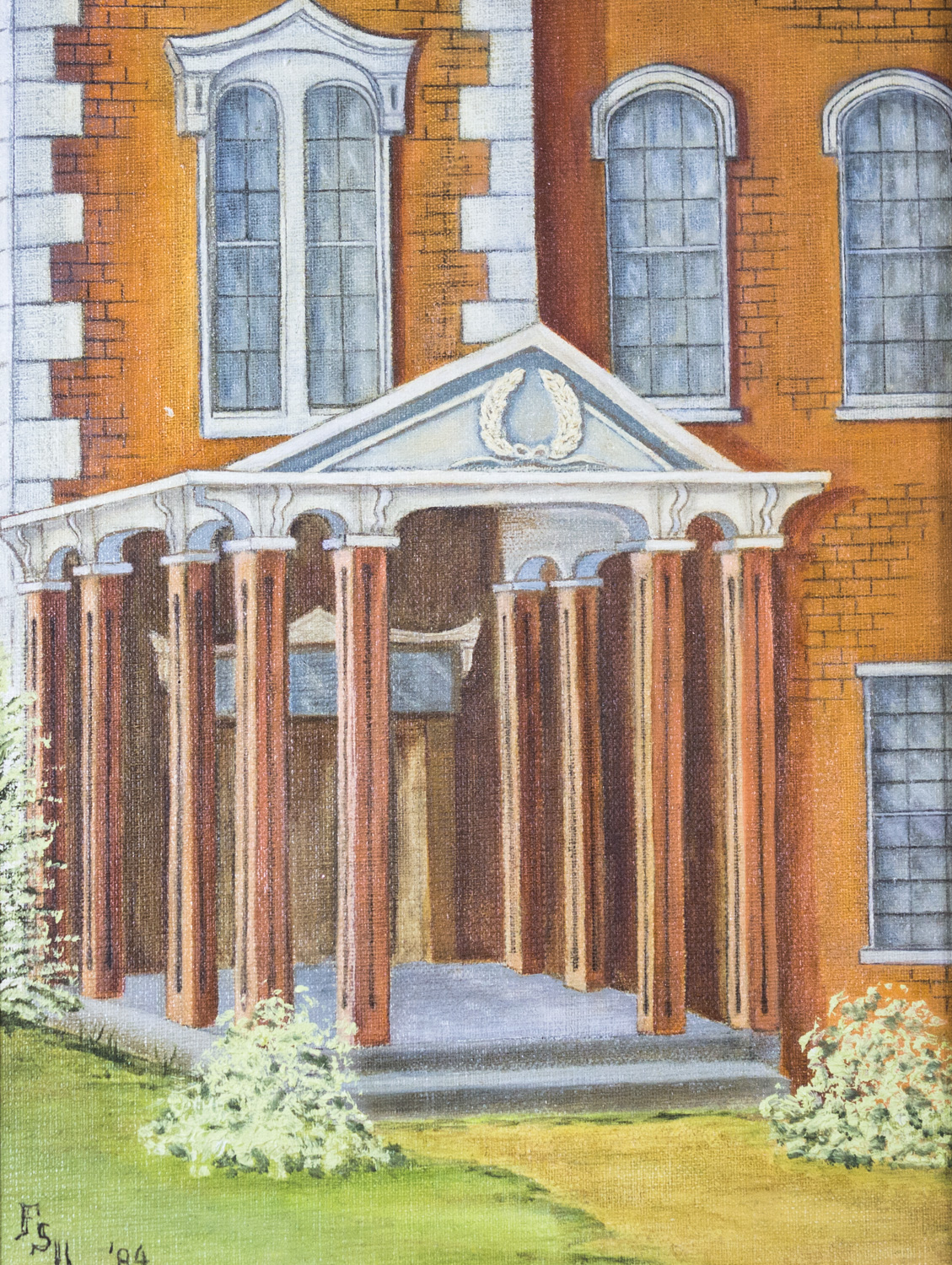 One-Story Columned Entrance on the South side of the Courthouse by Frances Sweat Upchurch, 1984, 11