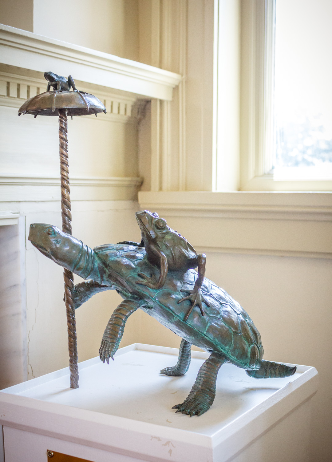 Slow Strider by Frank Fleming, Bronze, Donation