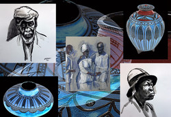 """""""Unity Designs"""" & Drawings & Washes"""