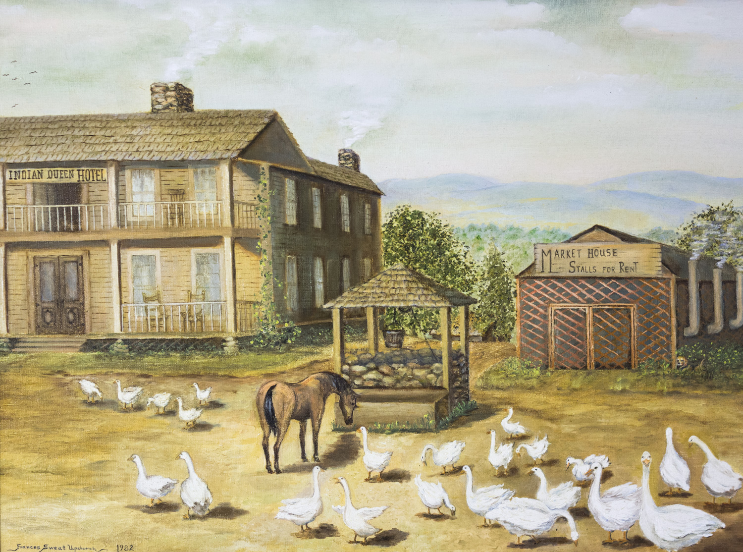 Aunt Emily's Geese by Frances Sweat Upchurch, 1982, Oil, 11 Paintings Collection from Foundation - C