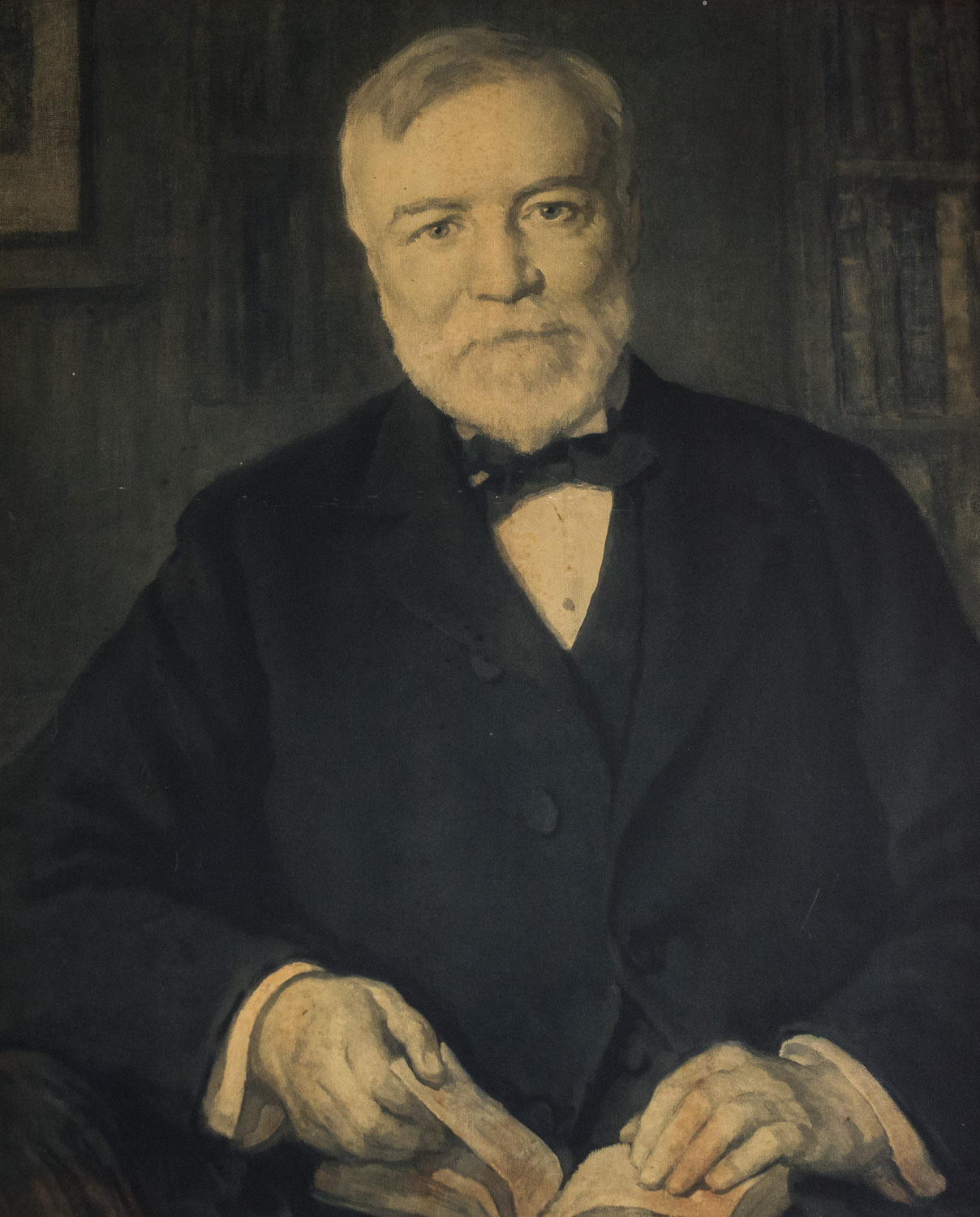 Portrait of Andrew Carnegie by Luis Mora, 1873-1940, Print, Gift