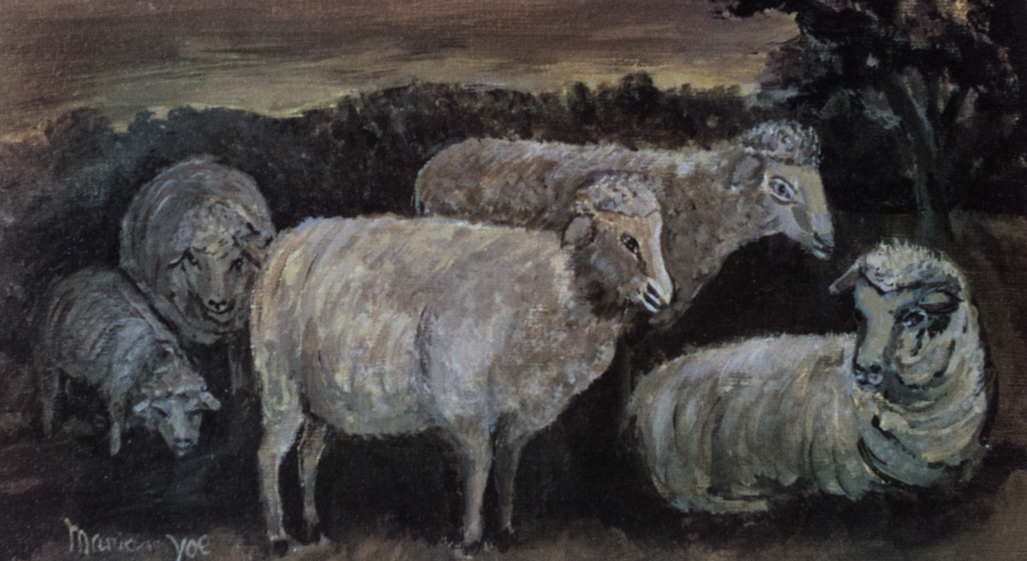 Good Little Sheep, Marian N. Yoe, Silk Screen Print of original watercolor