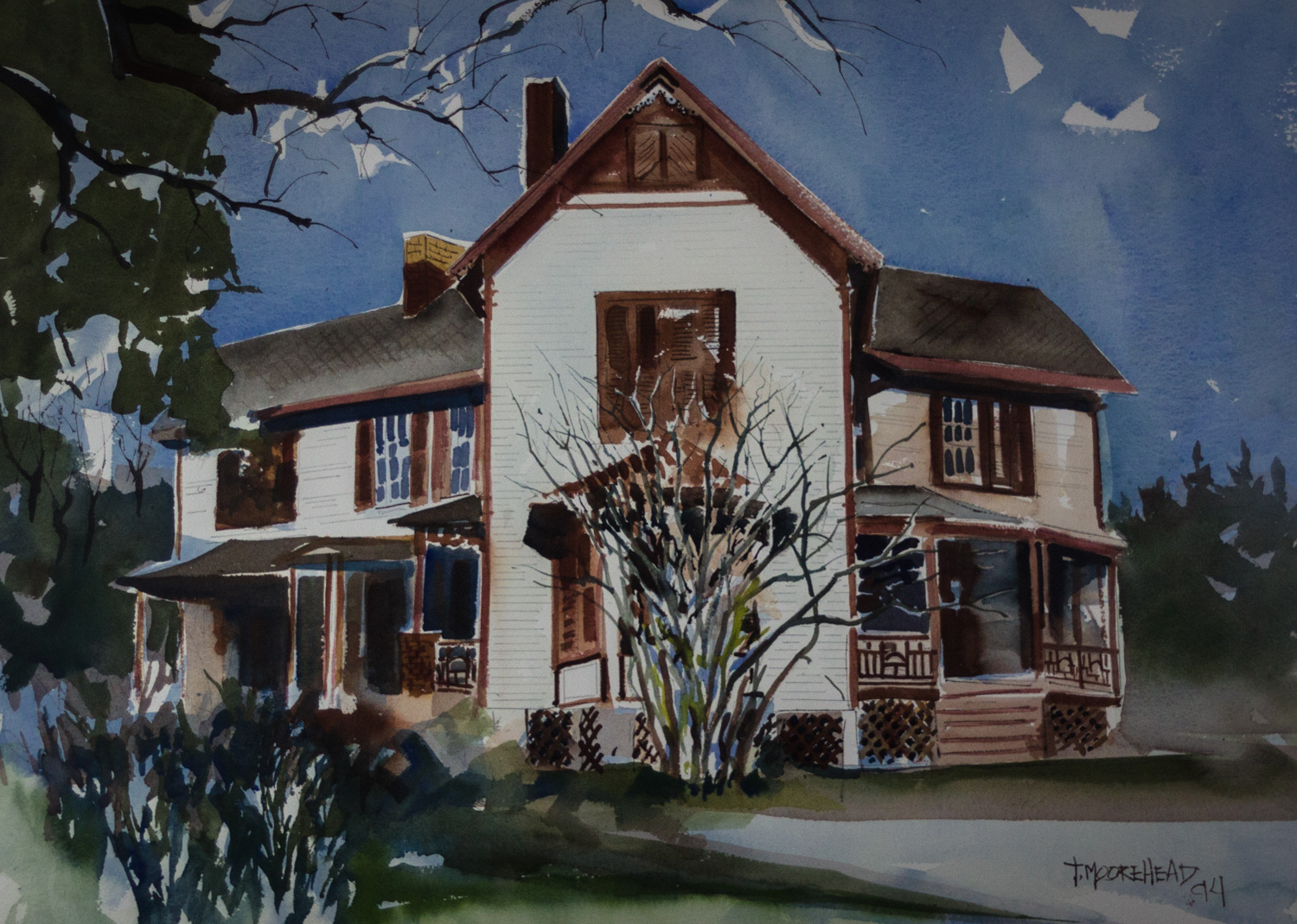 Talladega Home by Tommy Moorehead, Watercolor on Paper