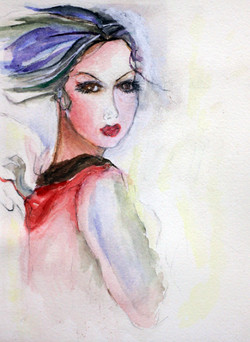 Watercolor by Ann Graham