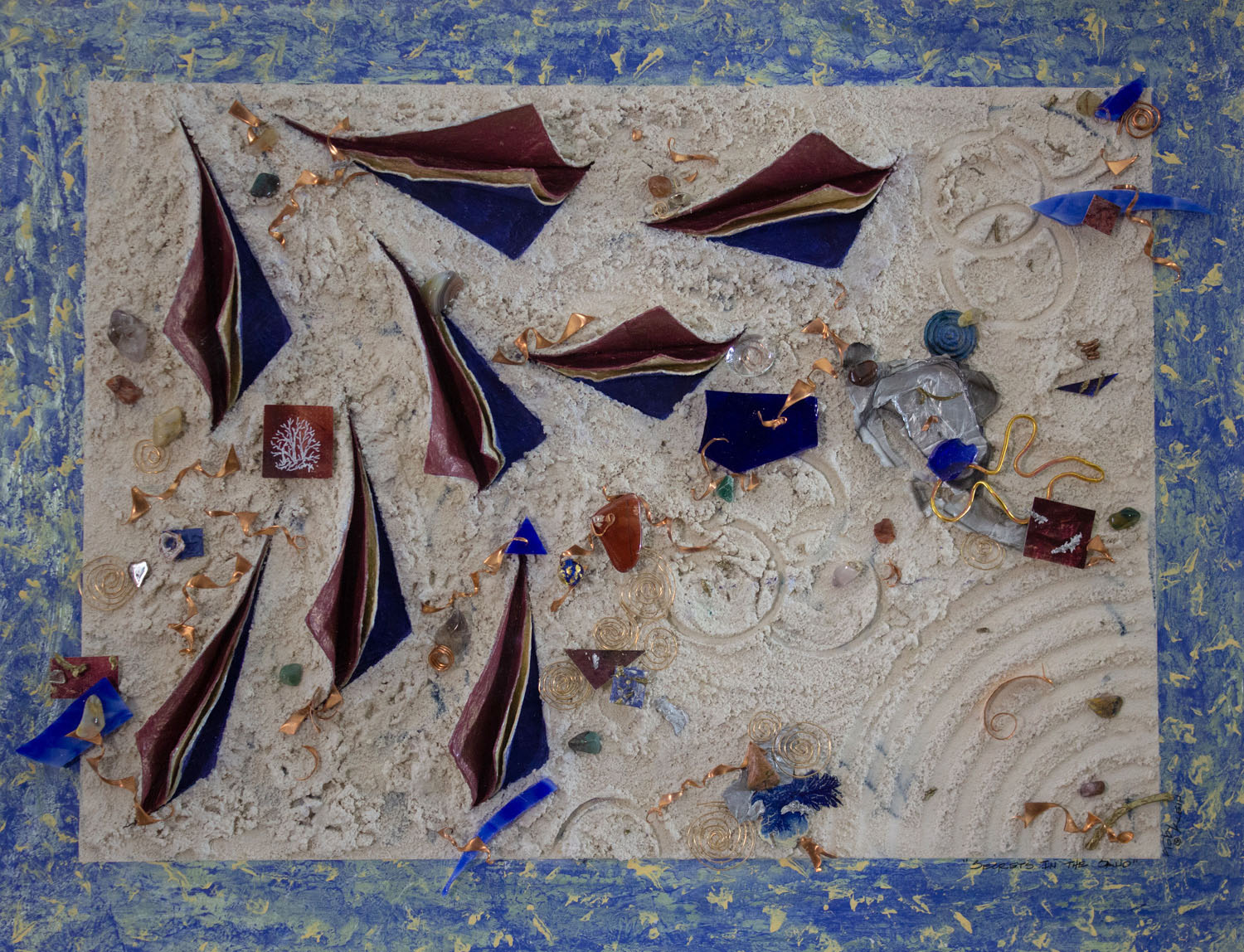 Secrets of the Sand by Toby Klein, Collage, Foundation Purchase Award of 1996-97