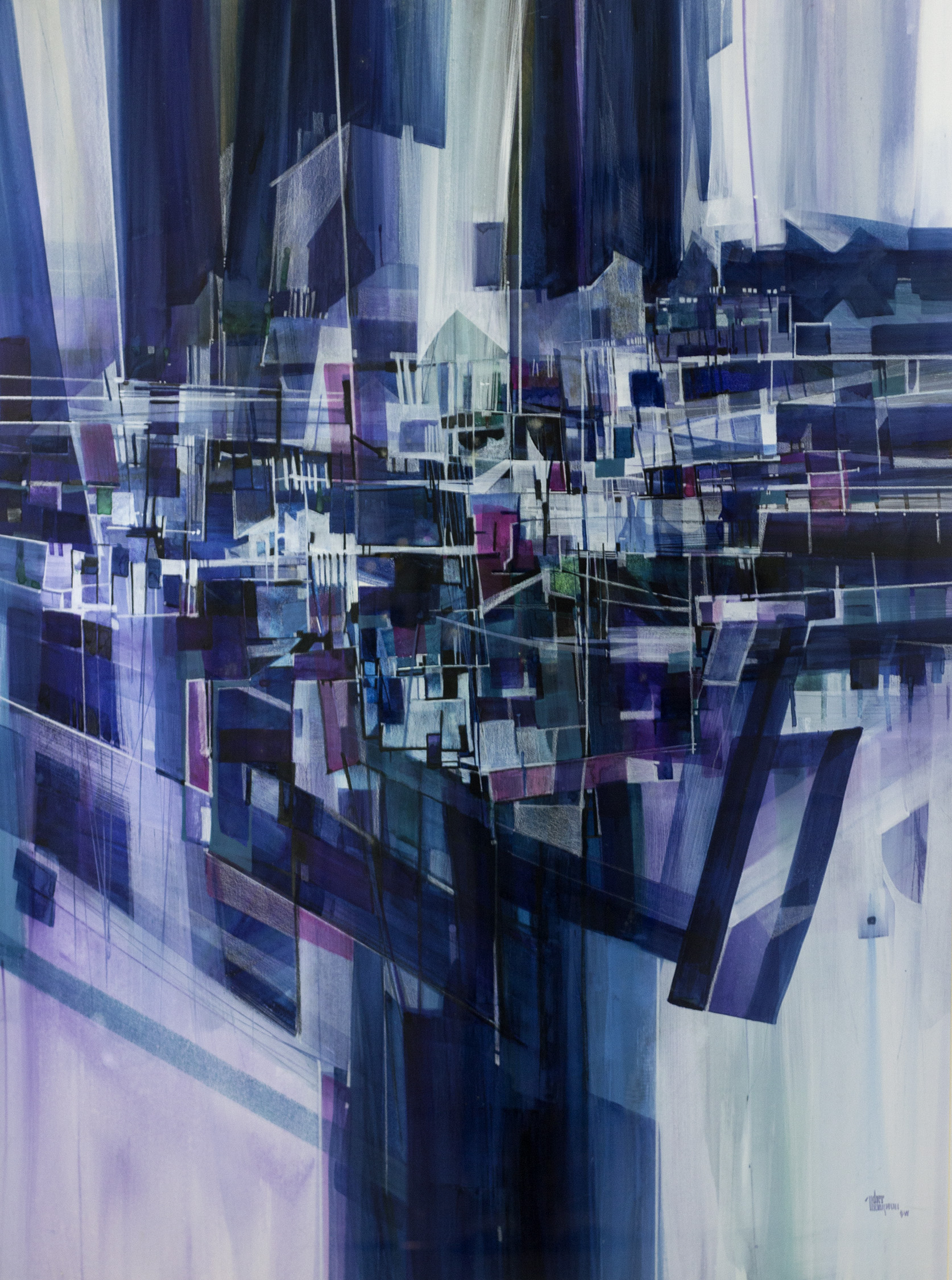 Big City Blues, Cher Thompson, Mixed Media