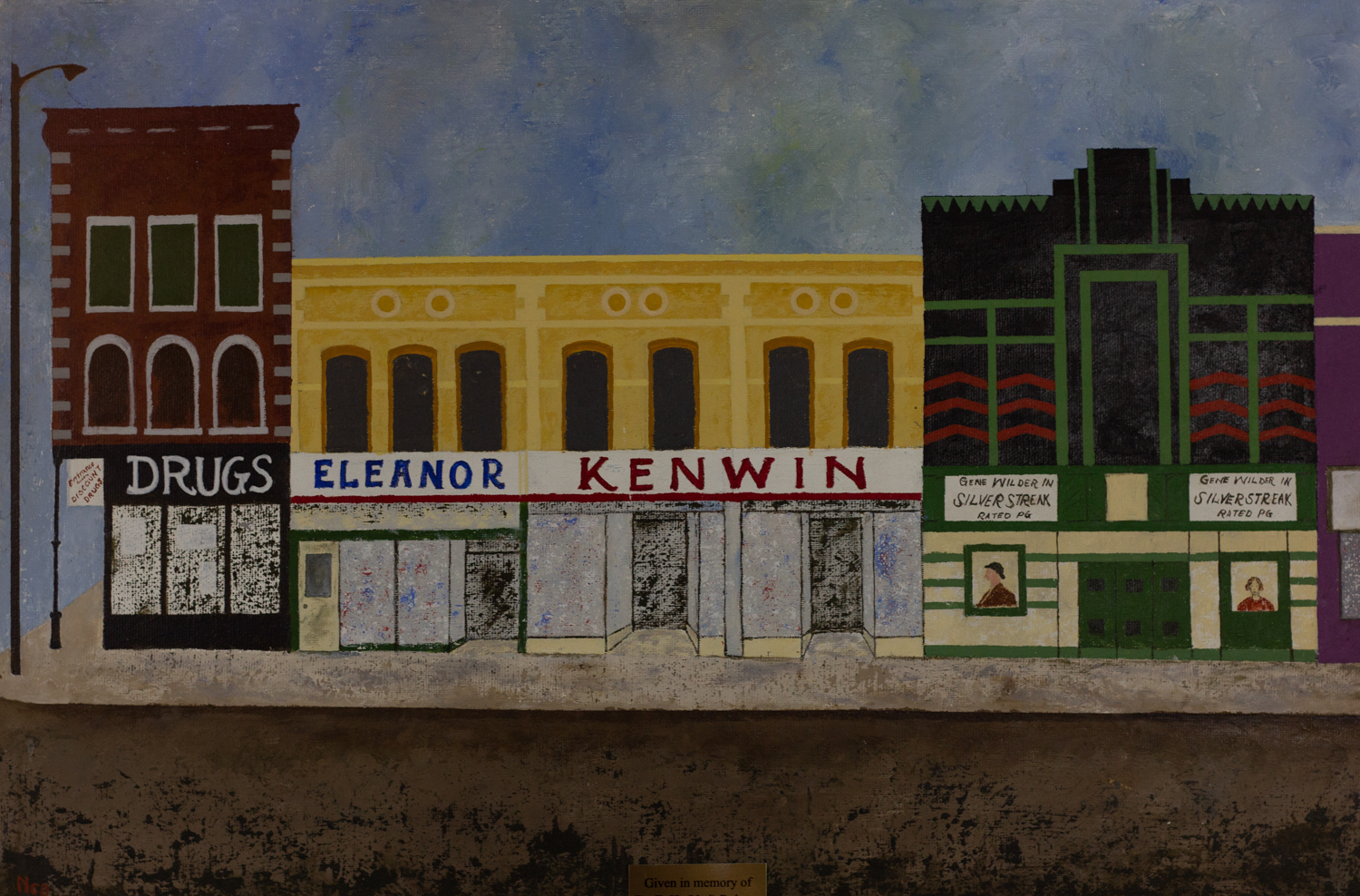 Downtown Square, Ned Roberts, Oil