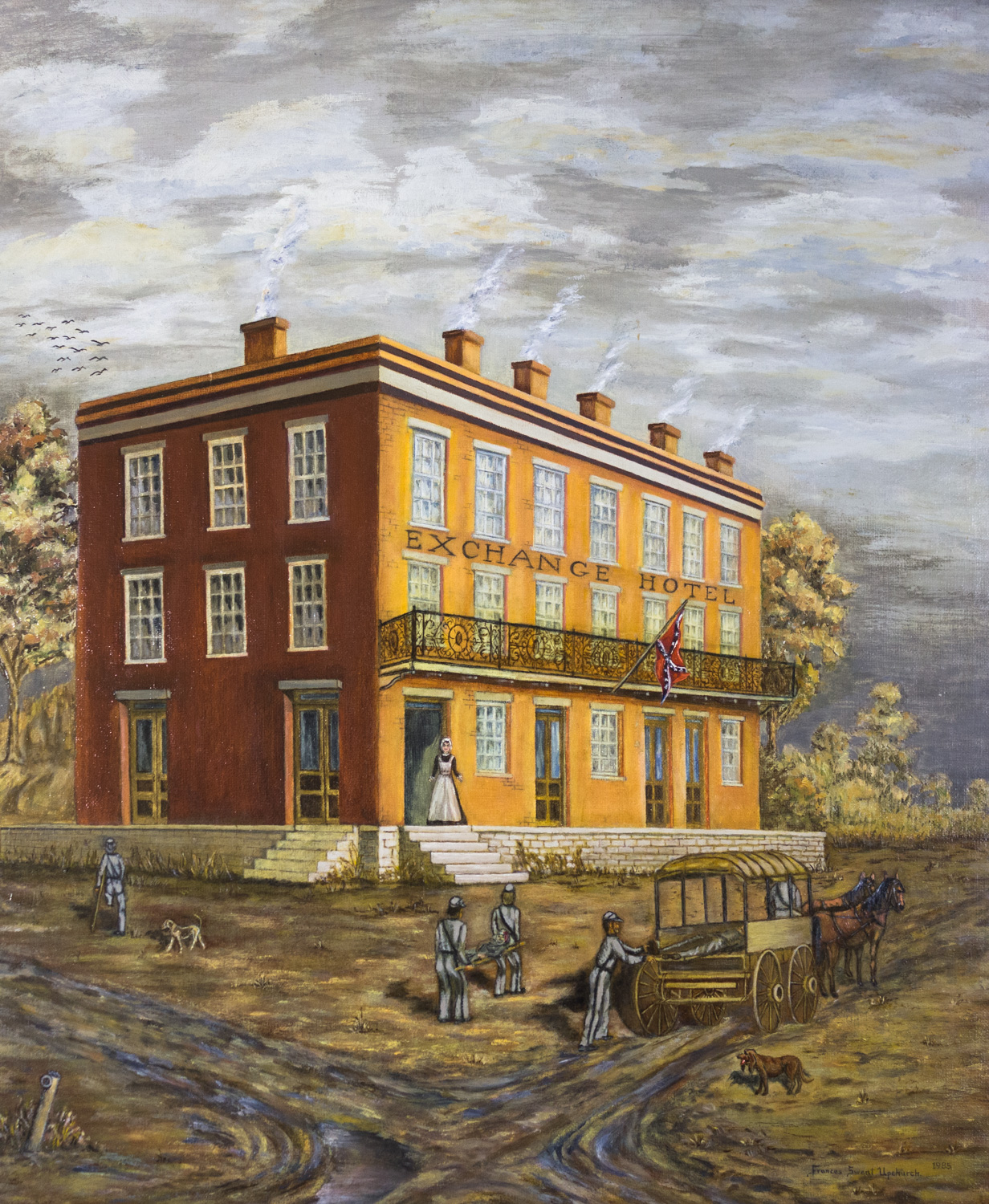 The Exchange Hotel, Frances Sweat upchurch, Oil on Canvas, 11 paintings collection from Foundation