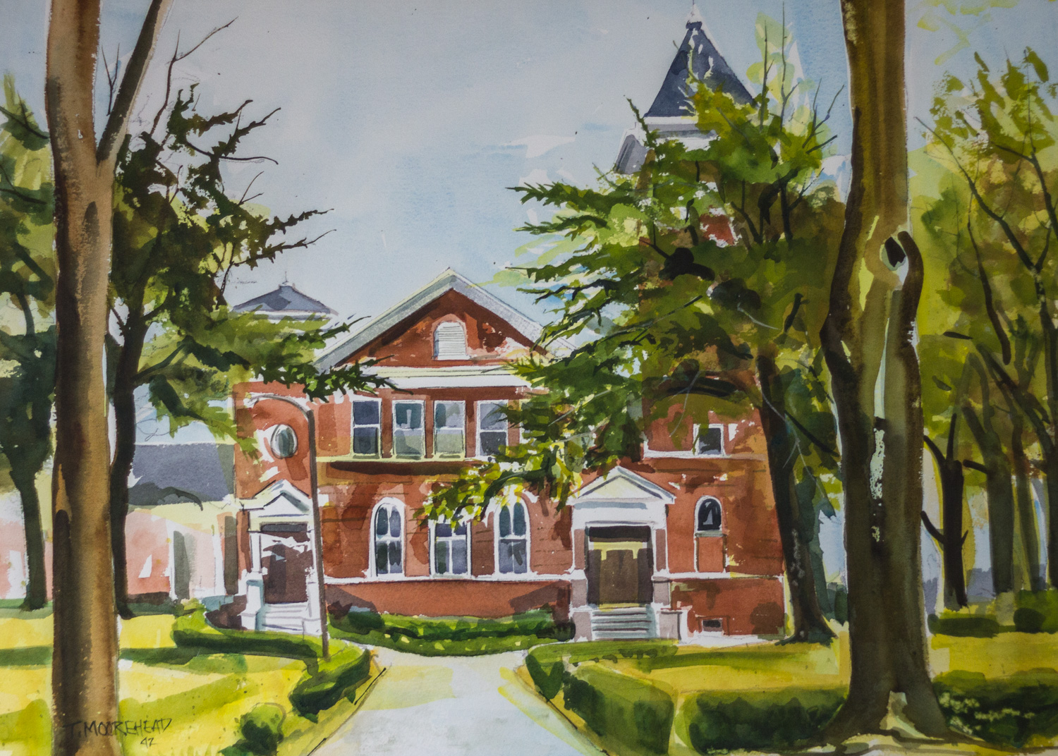 DeForest Chapel by Tommy Moorehead, Watercolor on Paper
