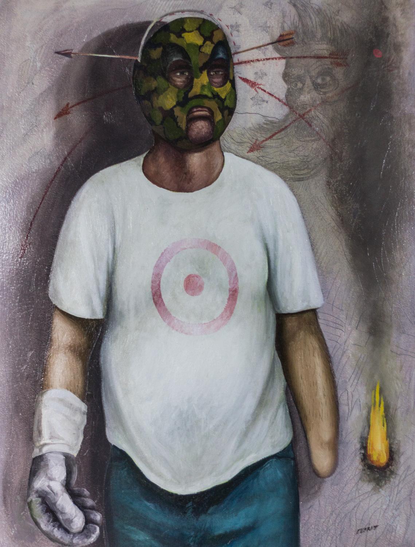 Militia Man, Russell Everett, Oil on Paper, Cheaha Exhibition Purchase Award Winner