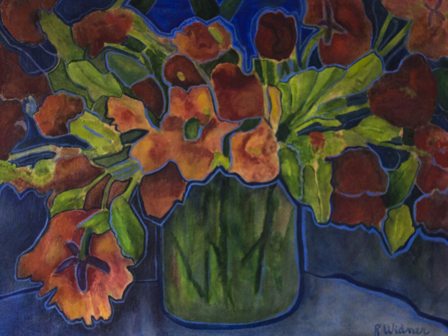 The Compote by Ruth Widner, Mixed Media, Donation