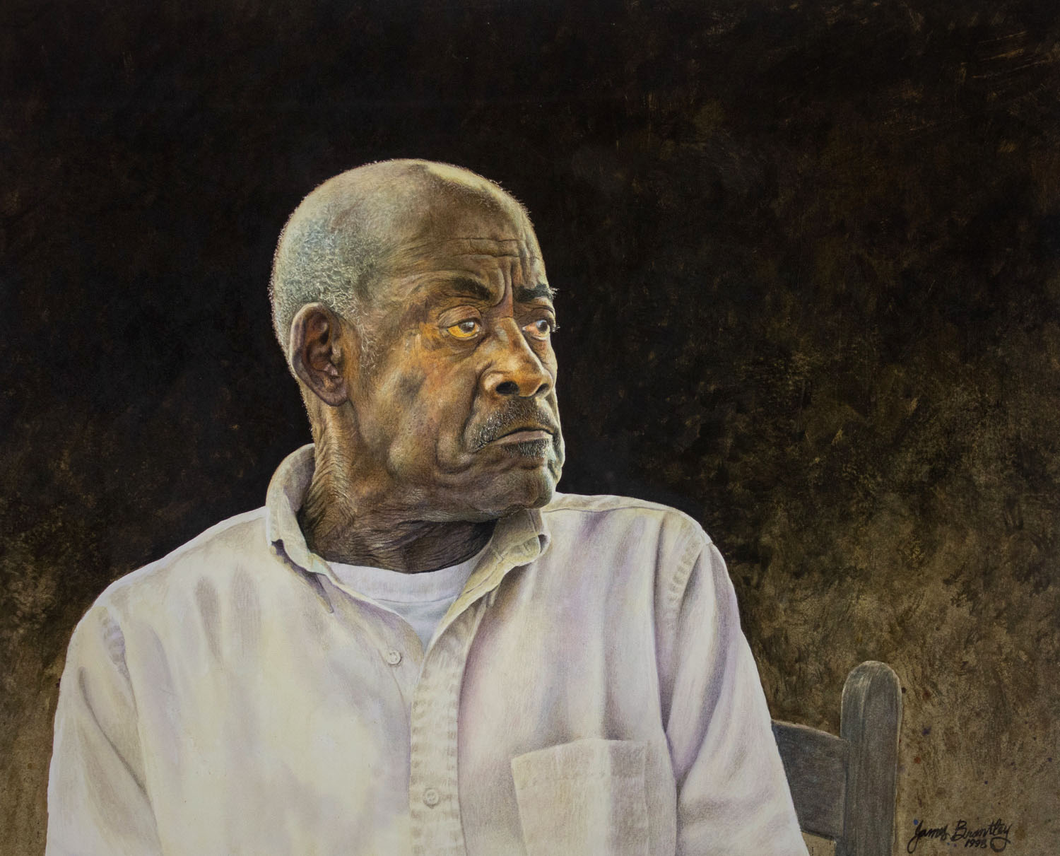 Mr. Reeves by James Brantley, 1998, Watercolor, Cheaha Exhibition Purchase Award Winner