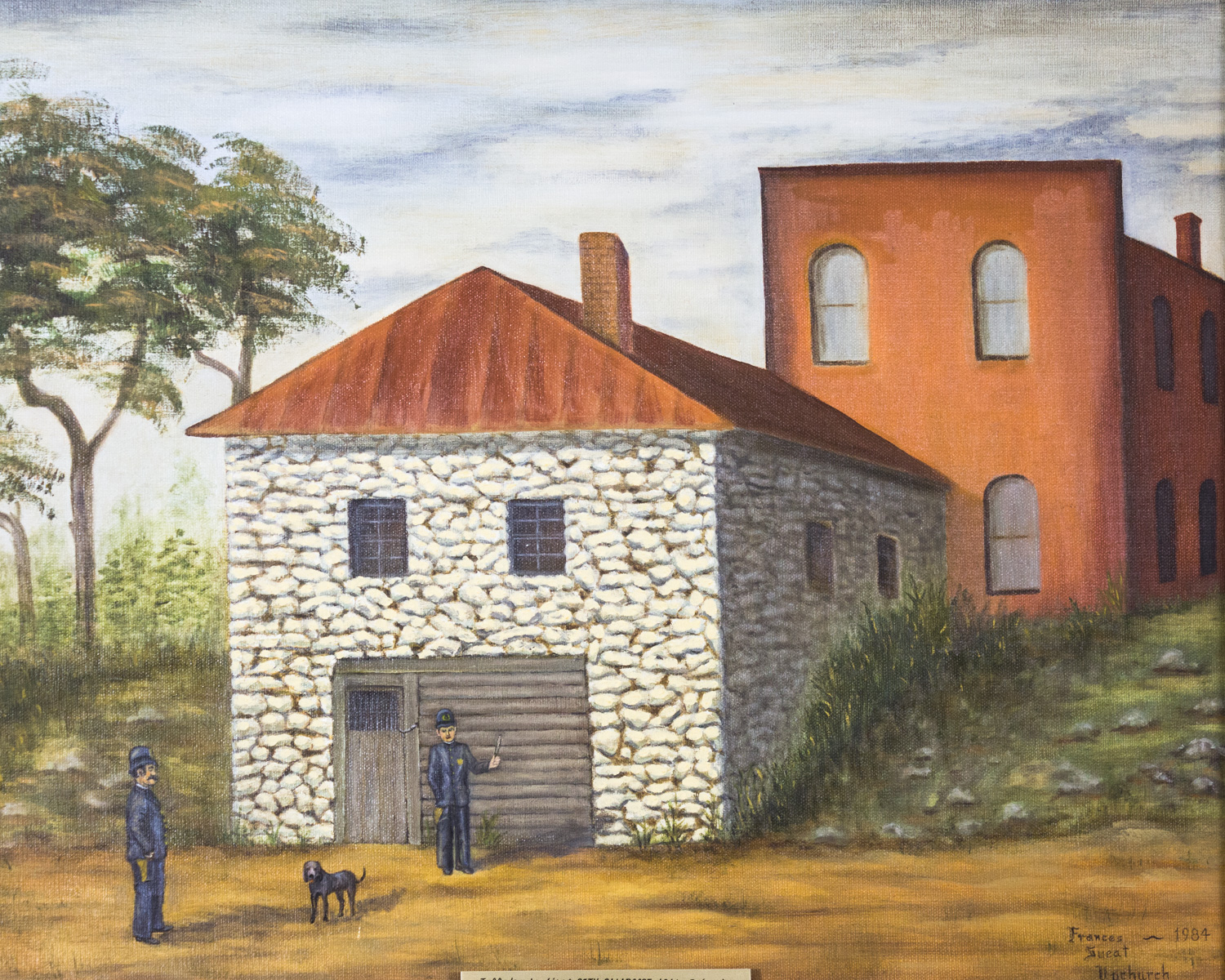 The Old Talladega City Calaboose, Frances Sweat Upchurch, 1984, 11 Paintings collection from Foundat