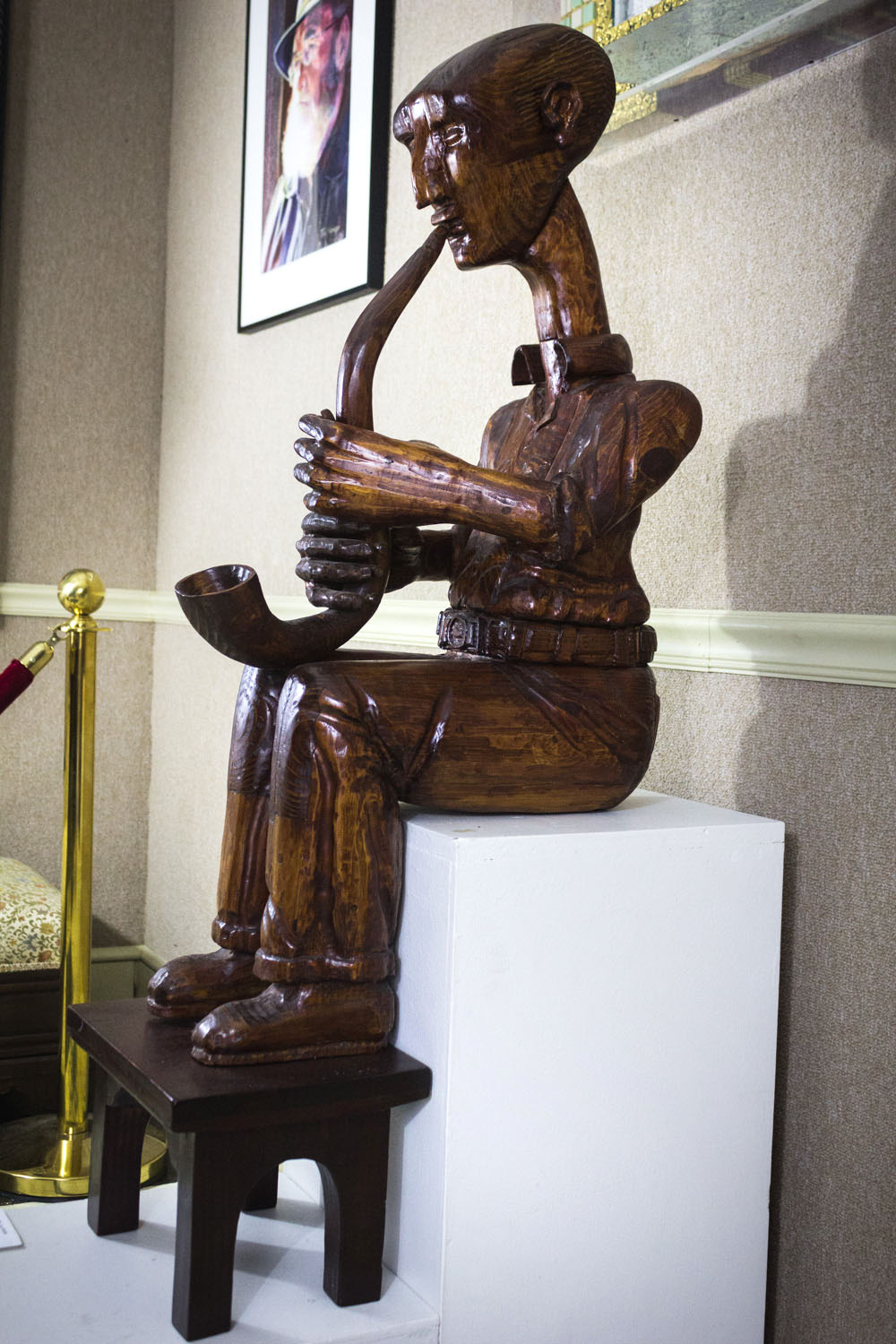 The Musician by Shelby Horton, Wood Carving, Donation