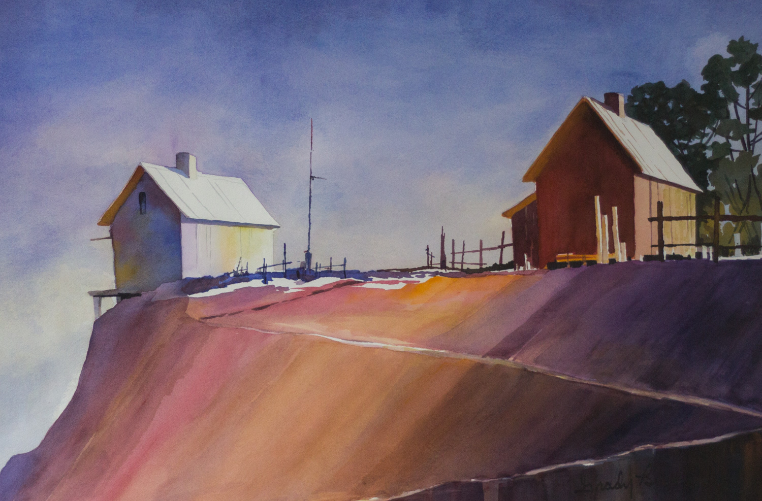 Low Tide, by Grady Barrow, Watercolor on Paper, Cheaha Exhibition Purchase Award Winner